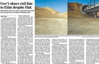 Gov't okays rail line despite flak