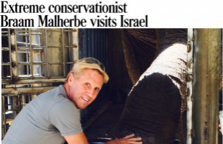 South African conservationist Braam Malherbe visits Israel, leads SPNI Nature Walk