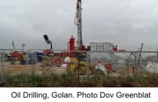 Oil Drilling in Golan Heights. Photo: Dov Greenblat