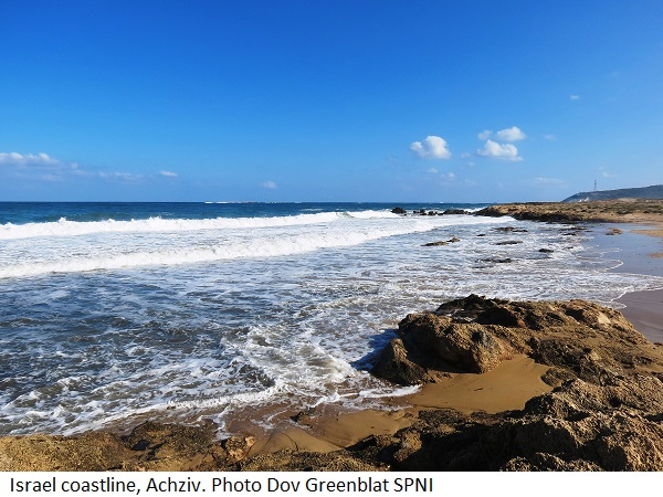 Israel's coastline, Achzive. Photo: Dov Greenblat SPNI