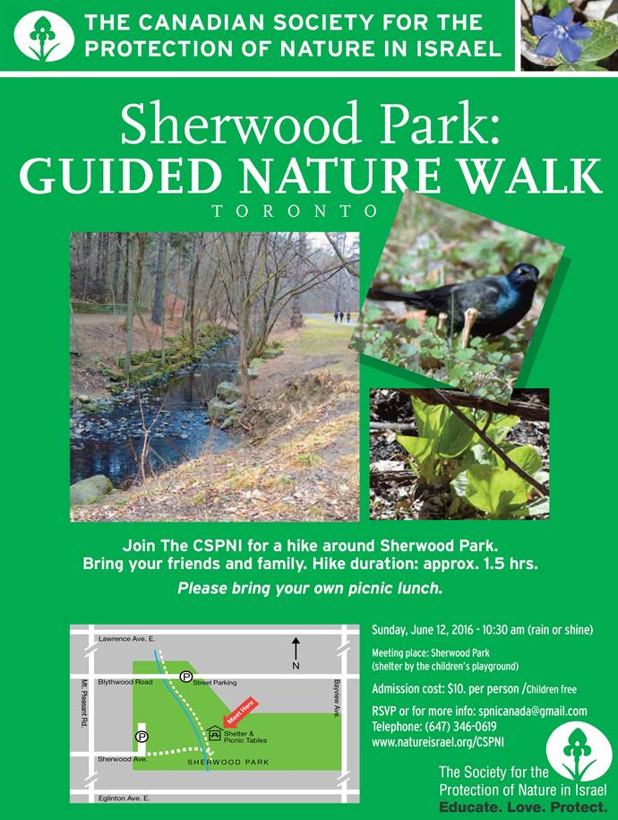 Guided Nature Walk Toronto 12 June 2016