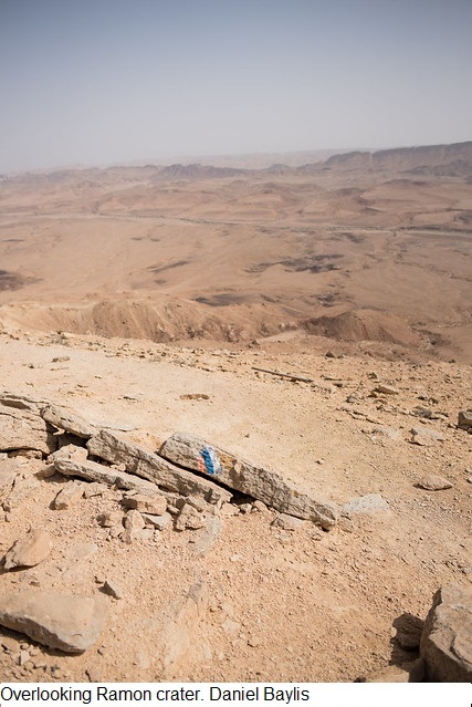 Overlooking Ramon crater. Photo Daniel Baylis