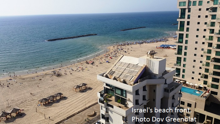 Israel's beach front. Photo Dov Greenblat