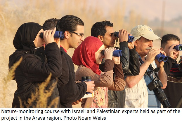 Nature-monitoring course with Israeli and Palestinian experts. Photo Noam Weiss
