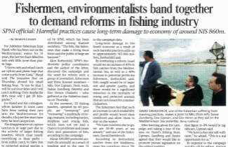 SPNI Is Working With Fisherman to Improve Fisheries Management