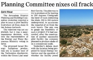 SPNI celebrates the Planning Committee decision to preserve the Elah Valley from fracking
