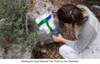 Marking the Israel National Trail. Photo by Dov Greenblat